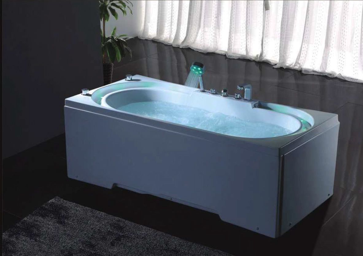 hydrotherapy massage bathtub with multicolored led waterfall b306 best shower room. Black Bedroom Furniture Sets. Home Design Ideas