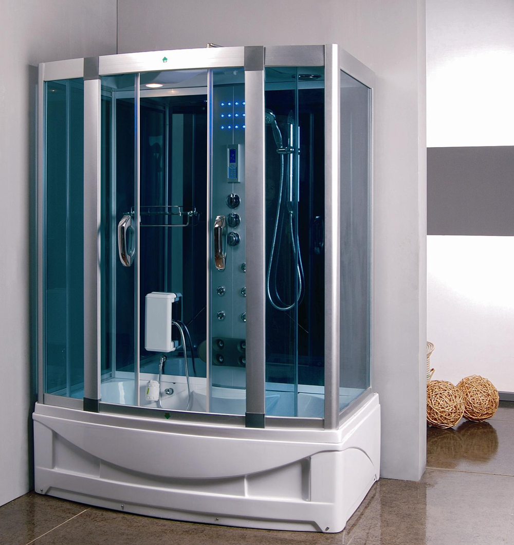 Steam Shower Room With deep Whirlpool Tub. 9004 - Best Shower Room