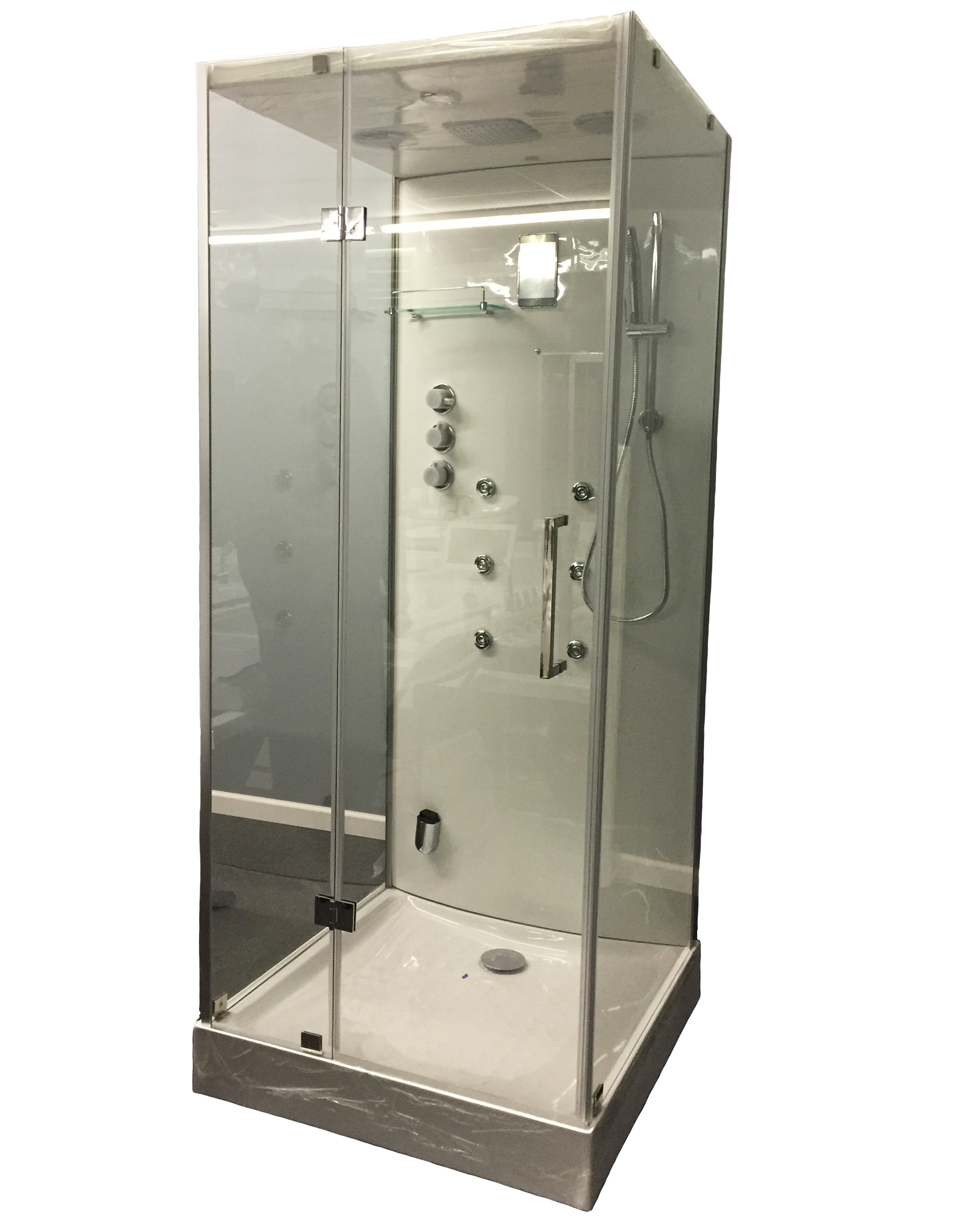 Steam Shower Cabin W/Hydro Massage.Bluetooth. 09009   Image 1