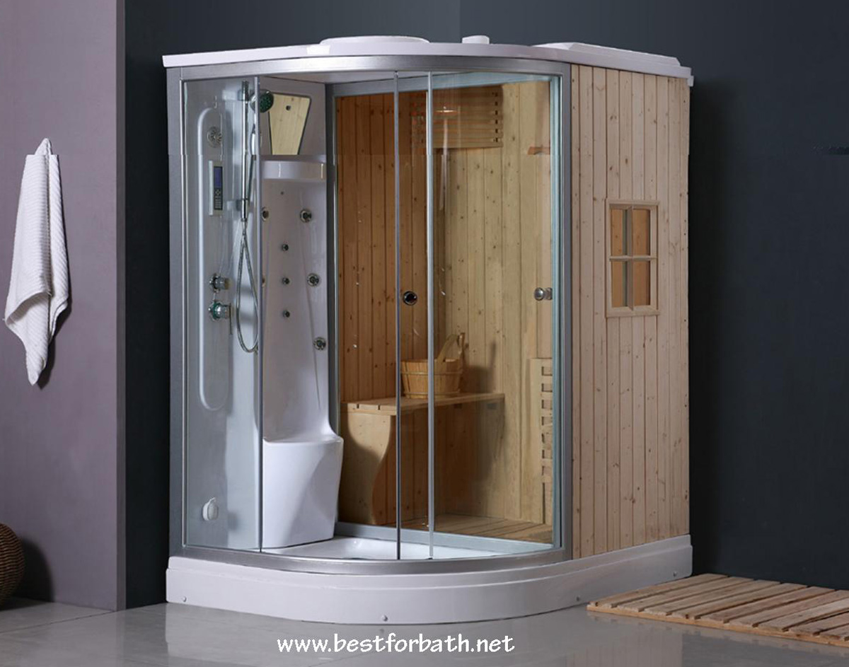 Ordinaire Steam Shower Enclosure With Traditional Sauna B001   Image 1