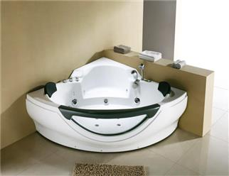 Corner JETTED BATHTUB,Hydromassage,Whirlpool,Air Bubble. M3150D - Image 1