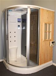 Steam Shower Enclosure with Traditional Sauna 	B001  - Image 3