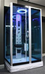 Square Steam Shower Enclosure w/Hydro Massage Jets.Aromatherapy.Bluetooth. 9009 - Image 5