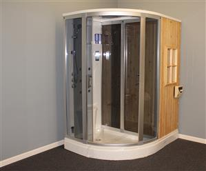 Steam Shower Enclosure with Traditional Sauna 	B001  - Image 19
