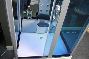 Square Steam Shower Enclosure w/Hydro Massage Jets.Aromatherapy.Bluetooth. 9009 - Image 7